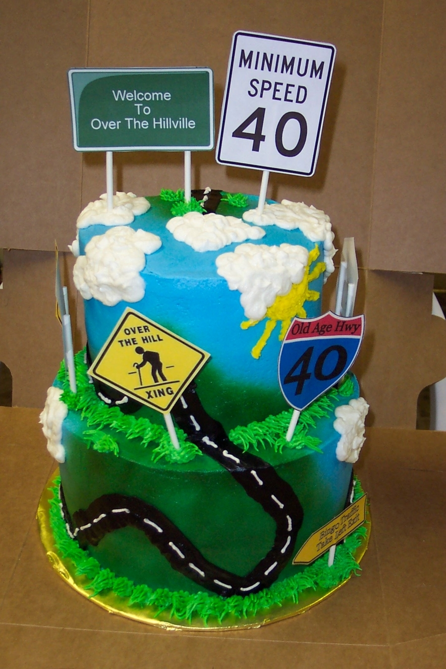 Over The Hill Cake - CakeCentral.com