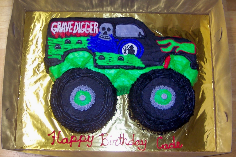 Miraculous Grave Digger Cake Cakecentral Com Funny Birthday Cards Online Alyptdamsfinfo