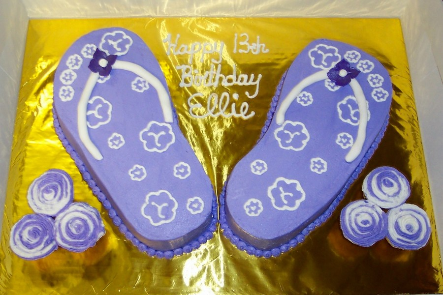 Purple Flip Flop Cake on Cake Central