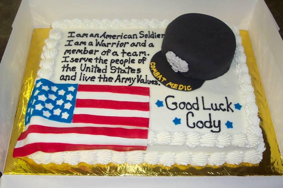 Army National Guard Combat Medic Cake On Central