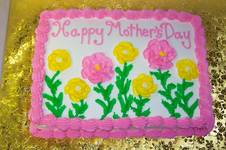 Flowers Mother's Day Cake on Cake Central