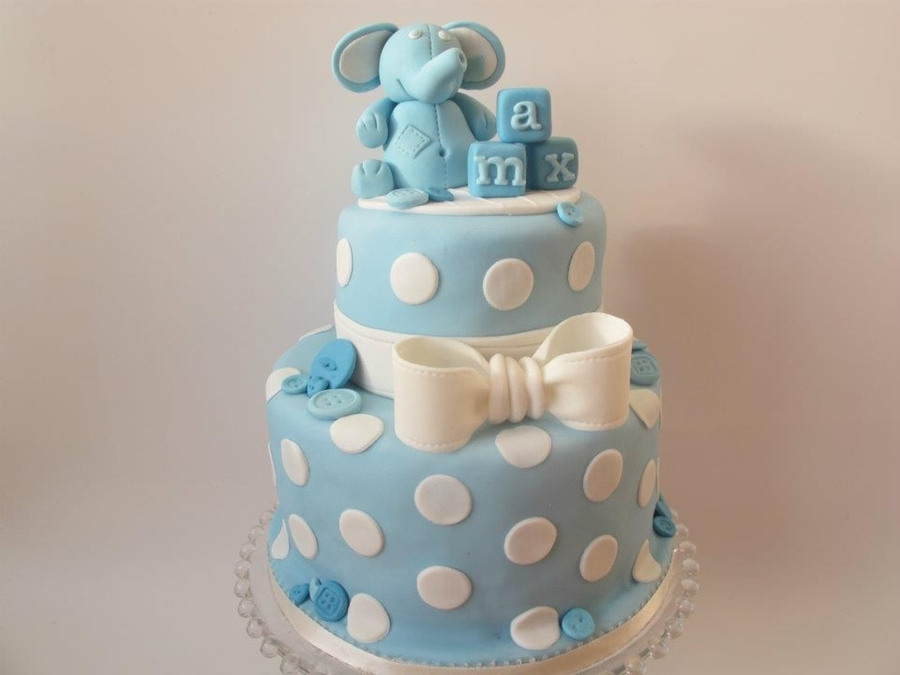 Baby Boy Christening Cake Cakecentral