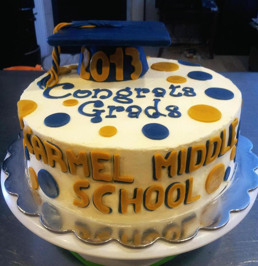 Middle School Graduation Cake Cakecentral Com