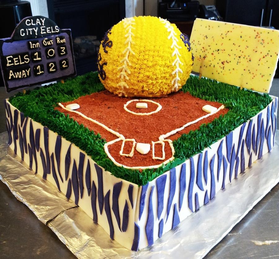 Senior Night Quotes For Softball: Senior Night Softball Cake