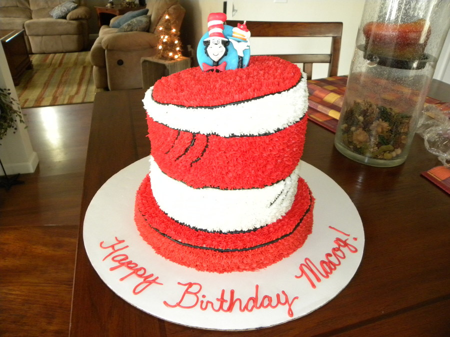 Dr. Seuss The Cat In The Hat on Cake Central