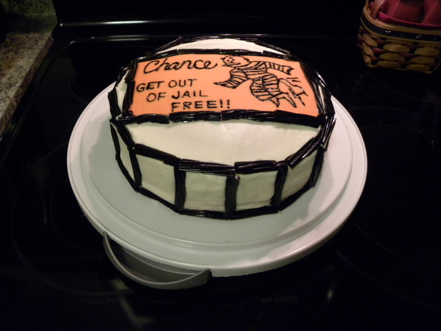 Get Out Of Jail Free! on Cake Central