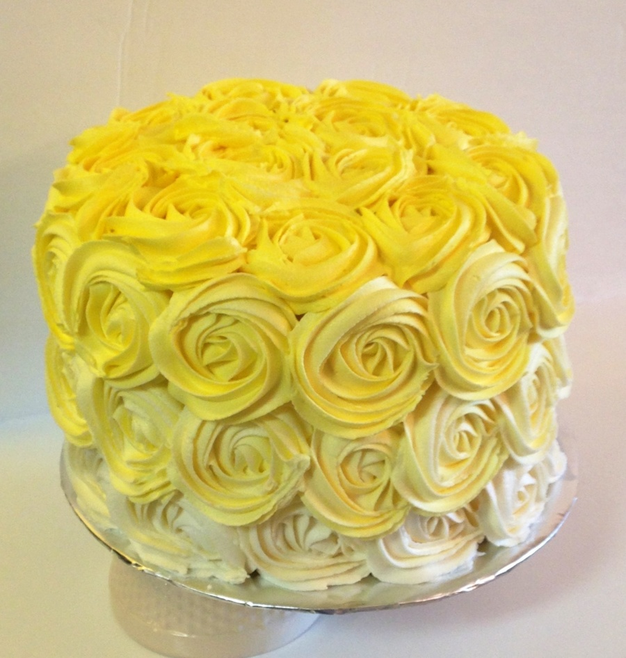 Ombre Rosette Cake Decorating