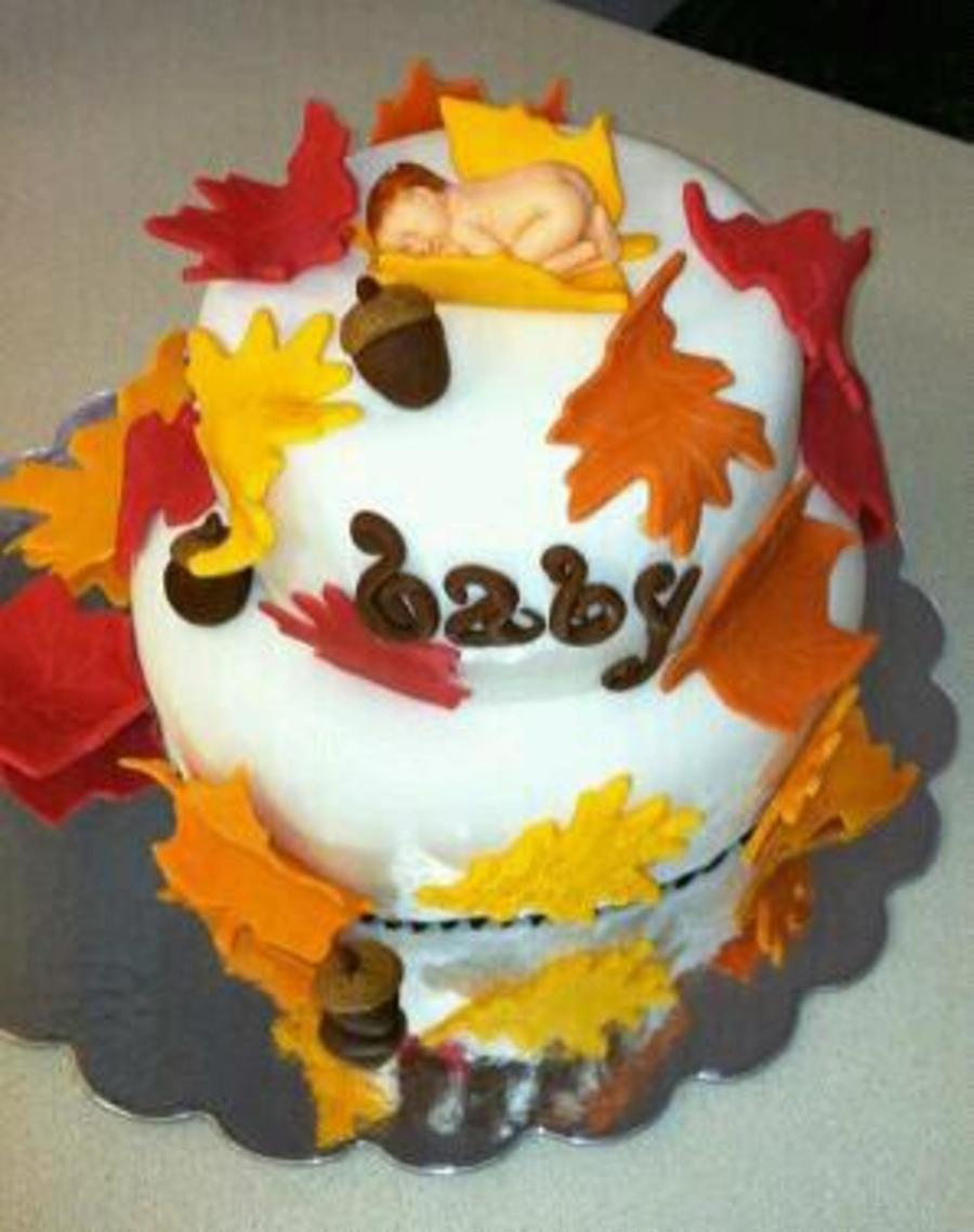 Autumn Baby Shower Cakes