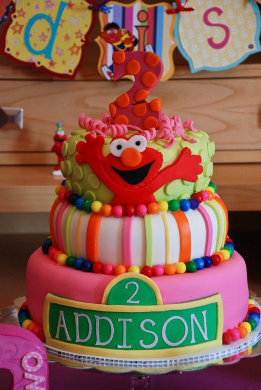 Cake Ideas For 2nd Birthday Girl : 2Nd Birthday Girl Elmo Cake - CakeCentral.com