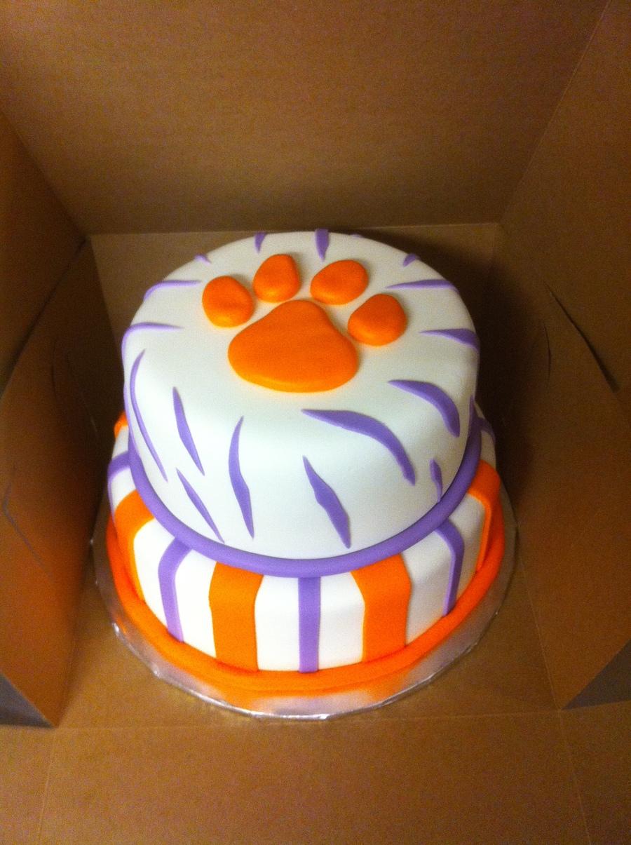 Clemson Tiger Birthday Cake