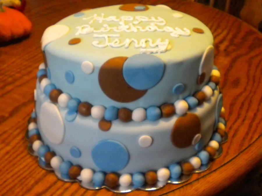 Polka Dot Birthday Cake on Cake Central