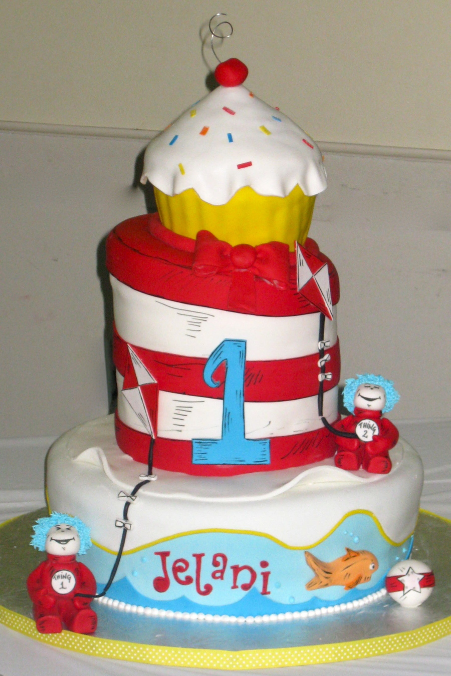 Cat In The Hat 1St Birthday Cake On Central