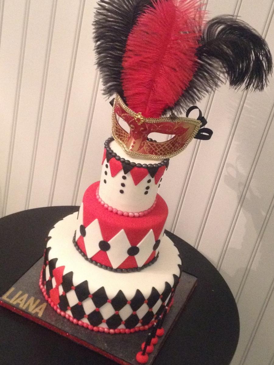 Masquerade Birthday Cake Cakecentral Com