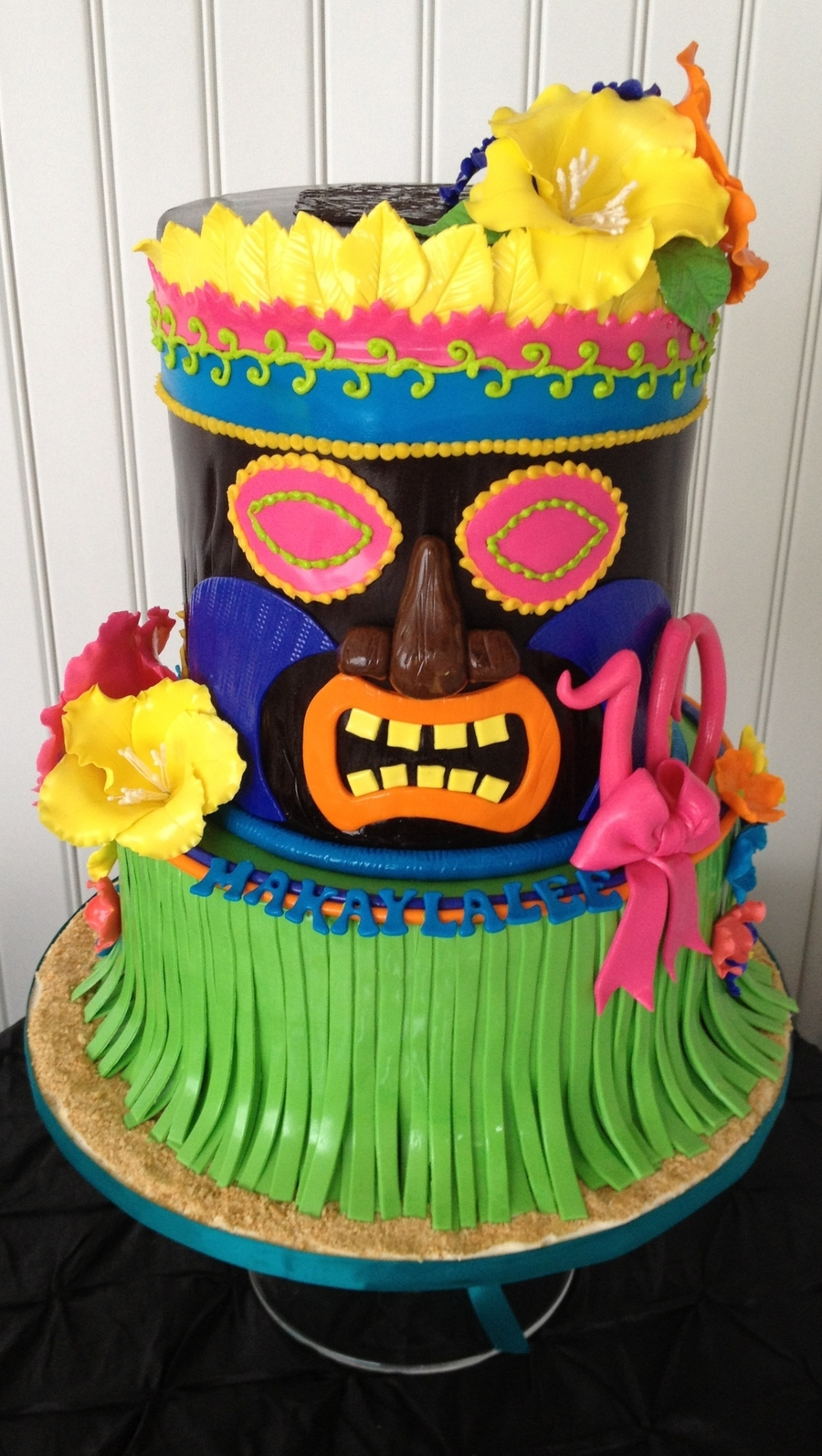 Cool Luau Tiki Man Birthday Cake Cakecentral Com Personalised Birthday Cards Cominlily Jamesorg