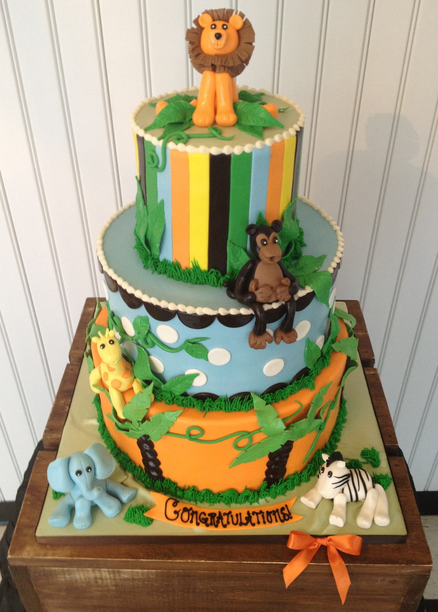 Safari Baby Shower Cake Cakecentral Com