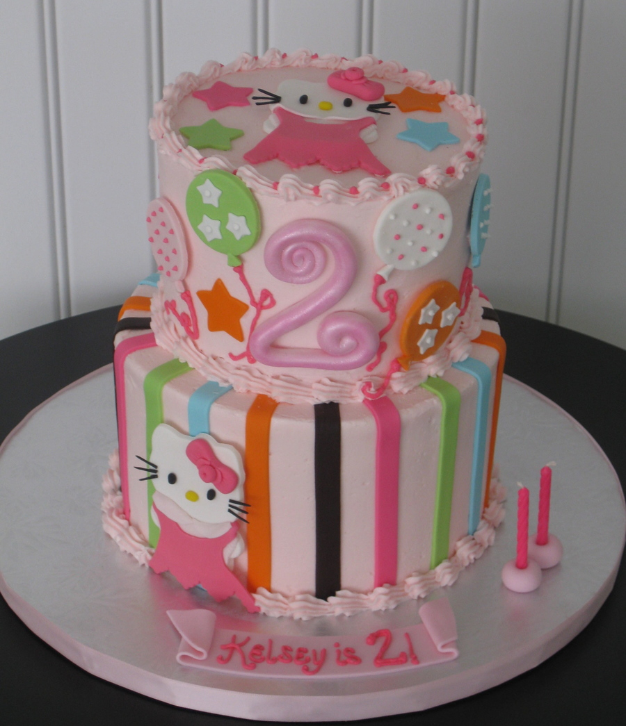 Incredible Hello Kitty 2Nd Birthday Cake Cakecentral Com Funny Birthday Cards Online Elaedamsfinfo