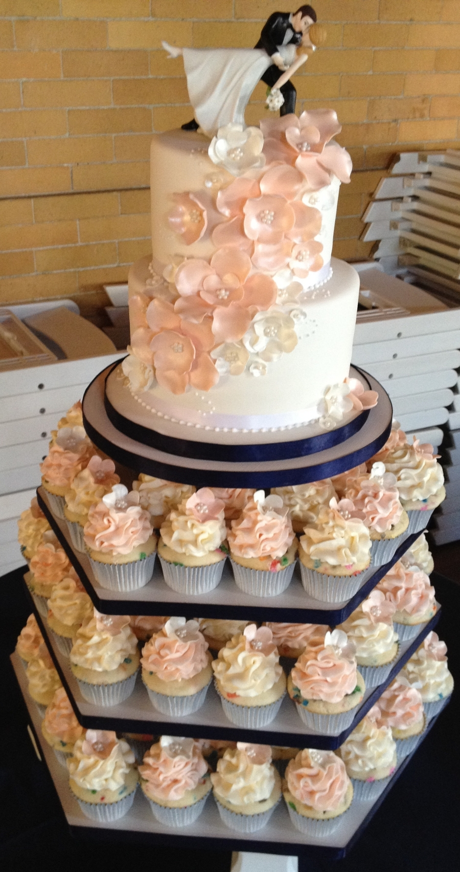 Wedding Cupcake Tower on Cake Central