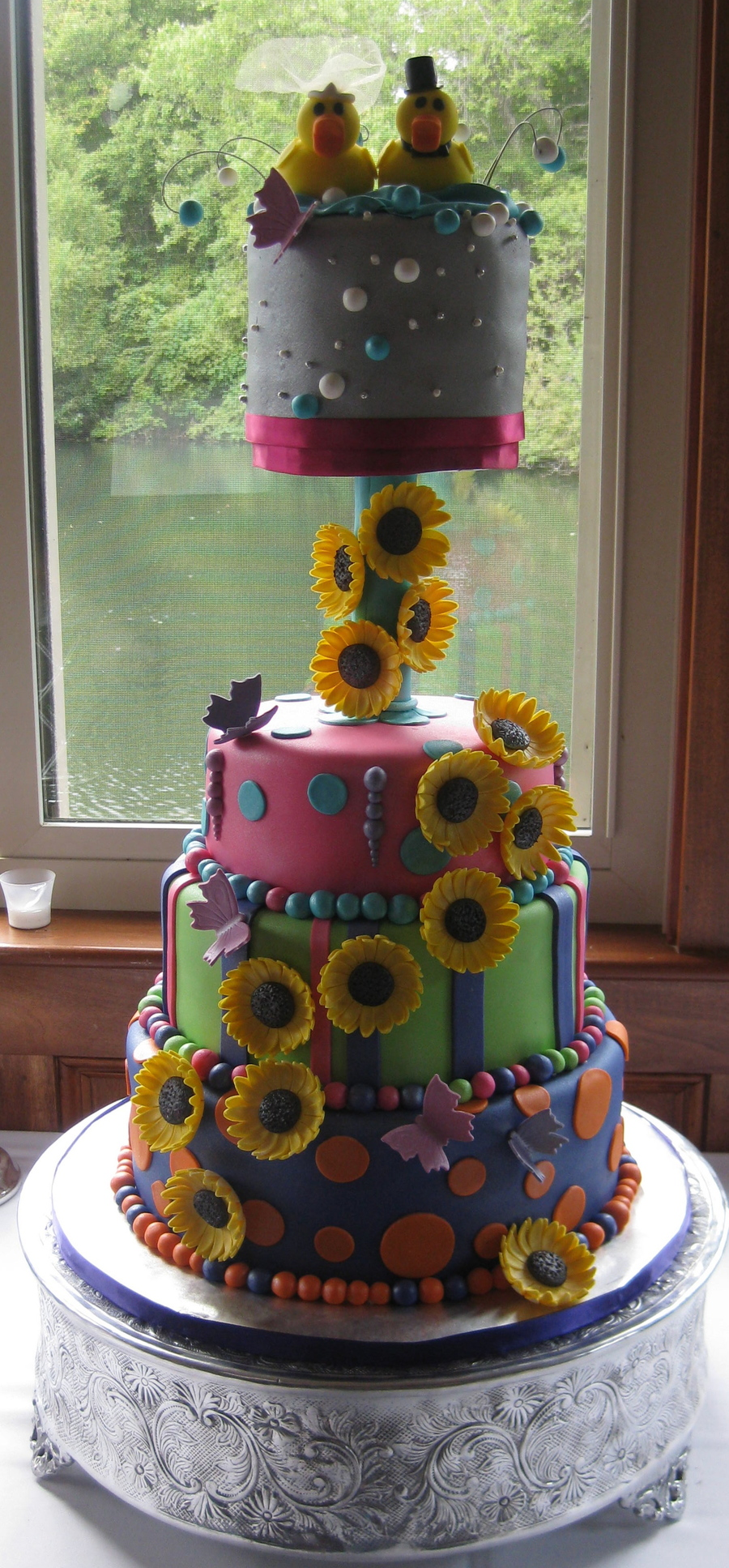 Rubber Duckies, Butterflies And Sunflowers on Cake Central