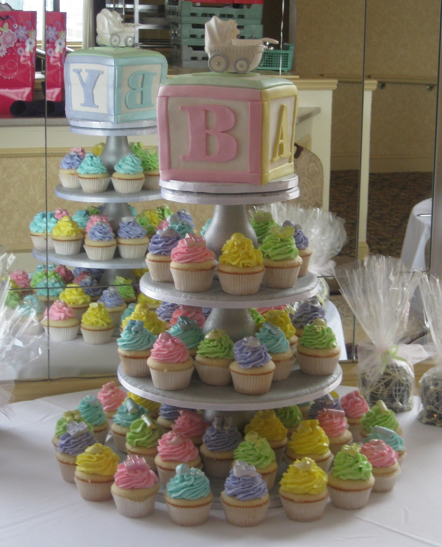 How To Make Baby Shower Block Cakes