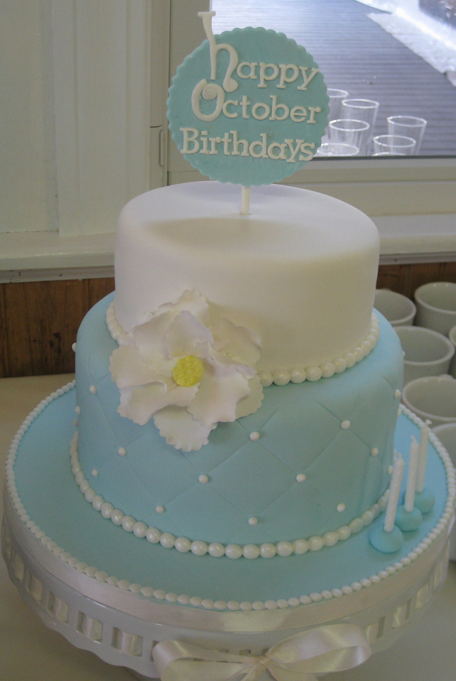 Quilted Pearl Sophisticated Birthday Cake Cakecentral Com