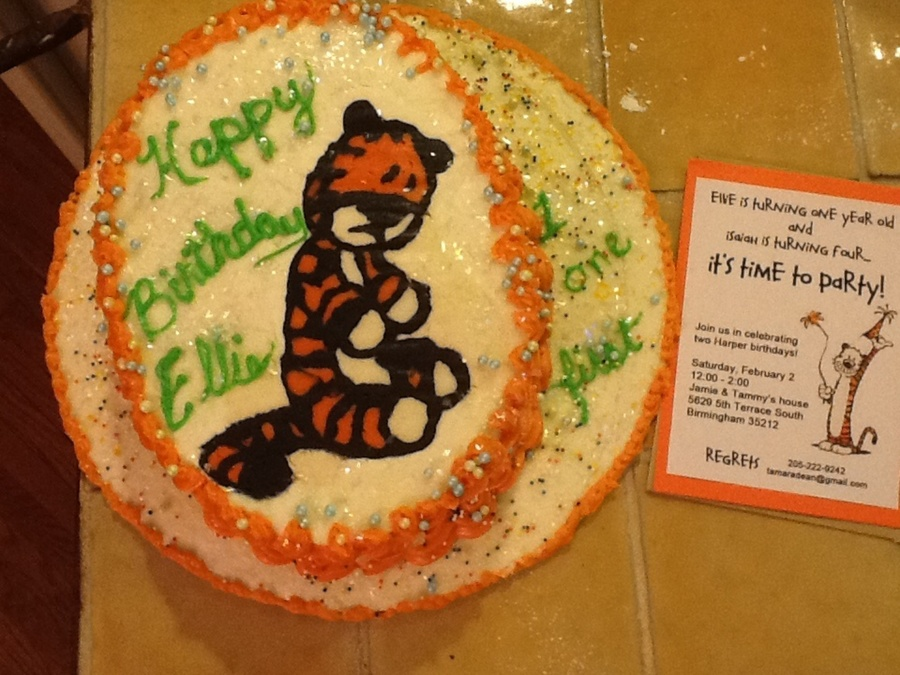 Calvin Hobbes Fbct  on Cake Central