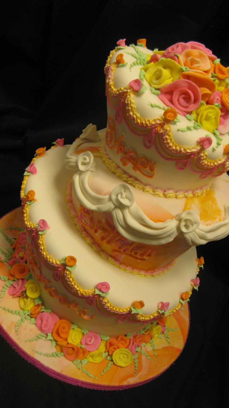 Remarkable Brooke Shieldss Birthday Cake Cakecentral Com Birthday Cards Printable Giouspongecafe Filternl