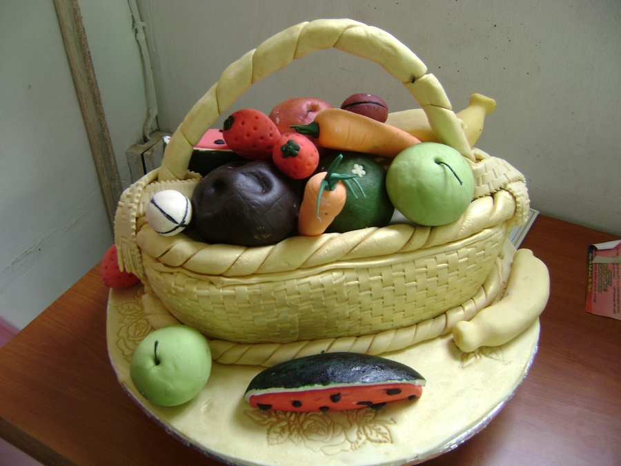 Basket Of Fruits on Cake Central
