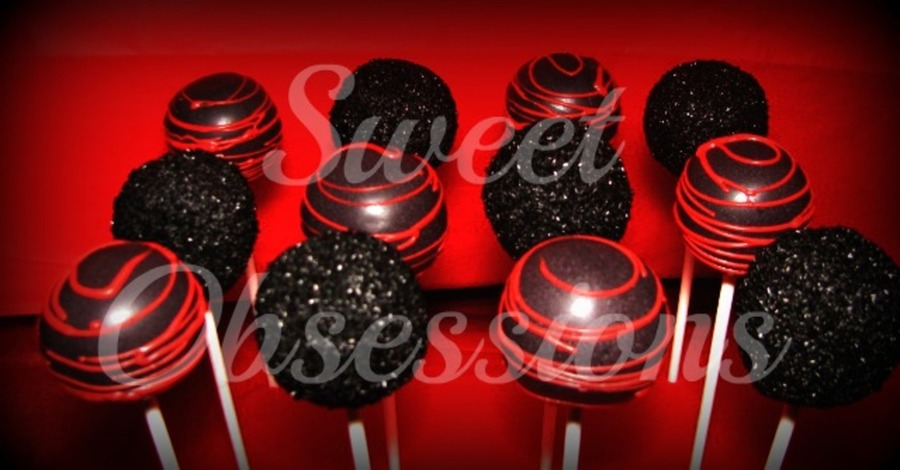 Black And Red Cake Pops on Cake Central