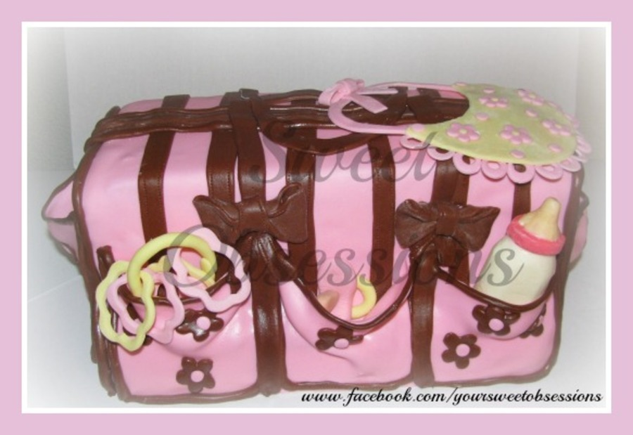 Diaper Bag Cake on Cake Central