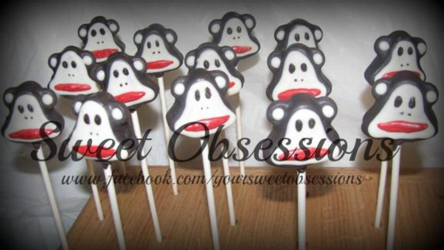 Paul Frank Monkey Cake Pops I Rolled The Dough And Used A Bell Shaped Cookie Cutter To Get The Shape I Think They Turned Out Perfect on Cake Central