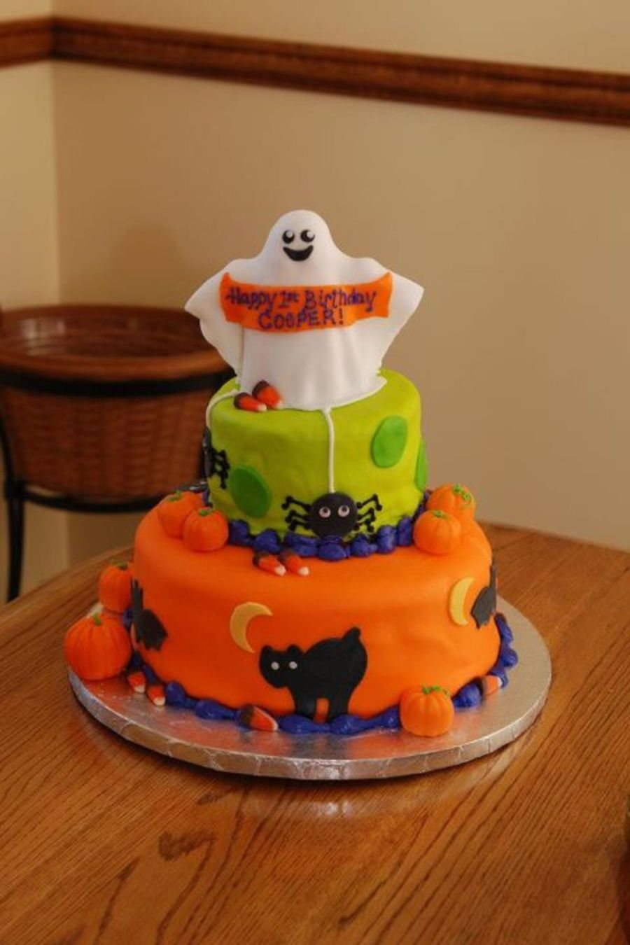 Halloween First Birthday Cake - CakeCentral.com