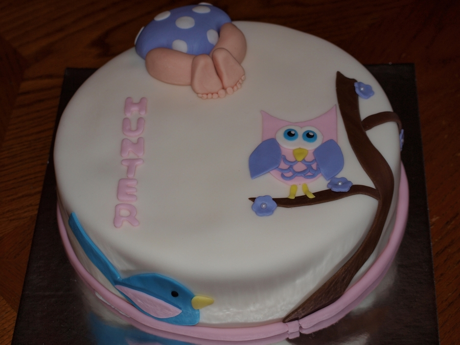 Owl Baby Shower  on Cake Central