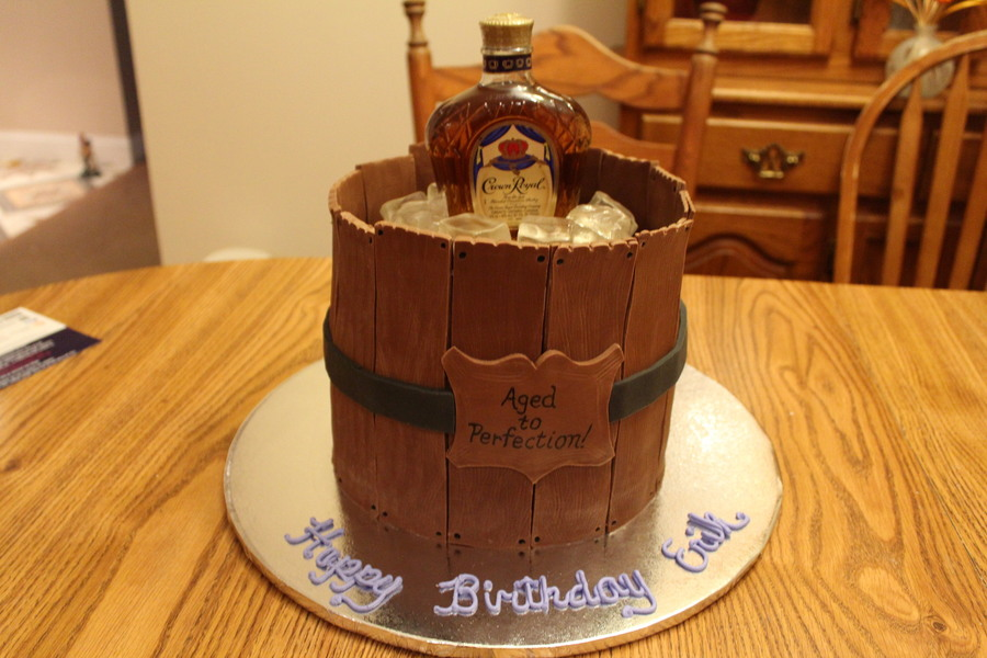Old Barrel Birthday Cake Made For My Brother In Laws Birthday