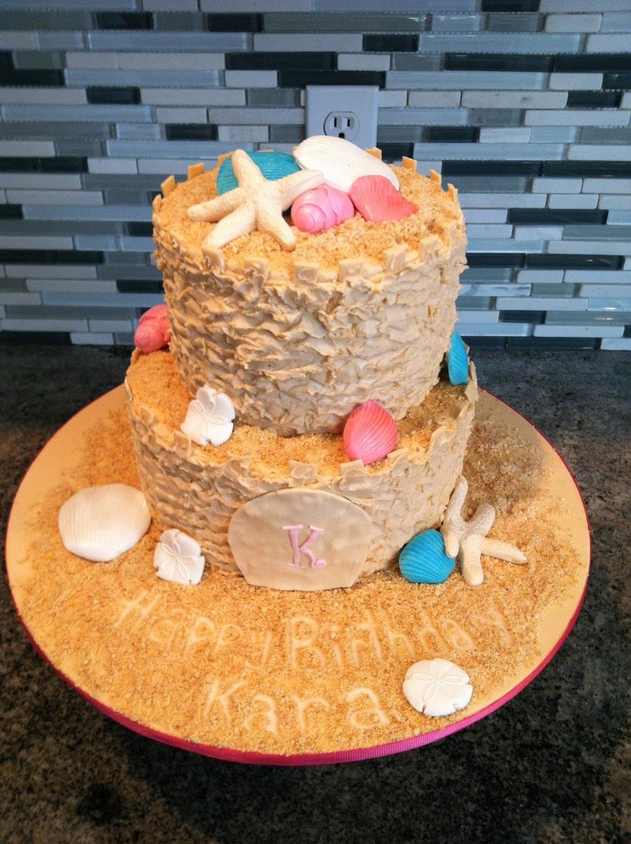 Cake Decorating Making Sand : Sand Castle Cake - CakeCentral.com