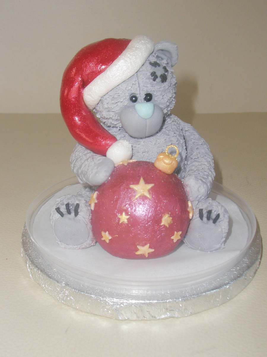"""christmas Teddy Topper"" on Cake Central"
