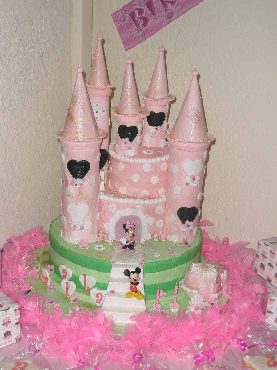 Minnie Mouse Castle Cakecentral Com