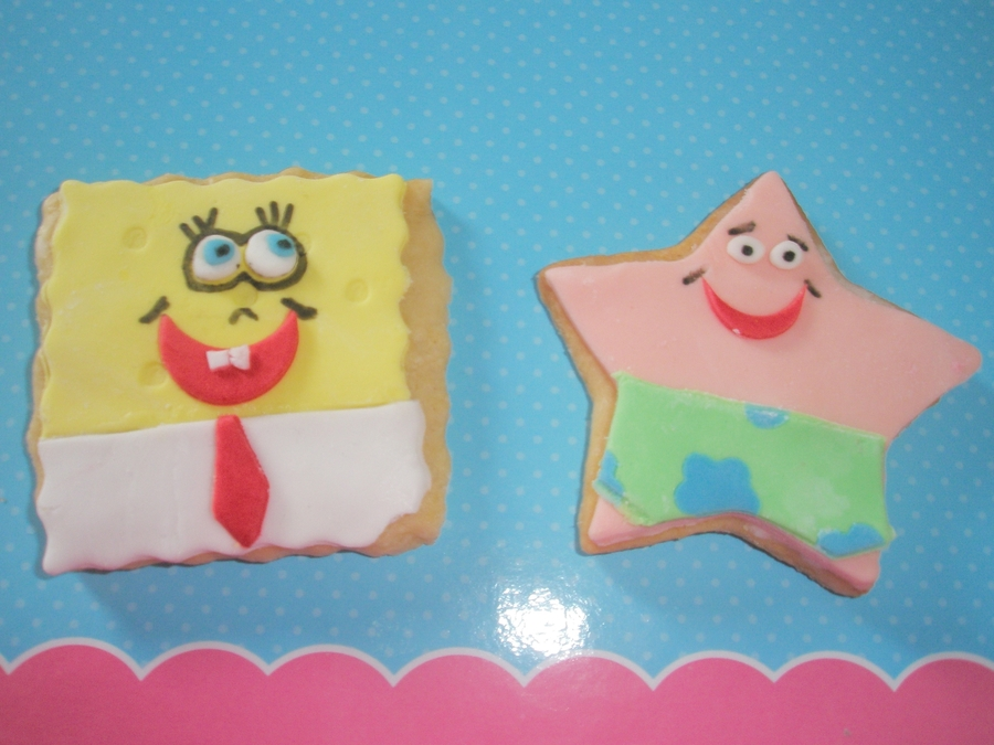 Spongebob And Patrick Cookies  on Cake Central