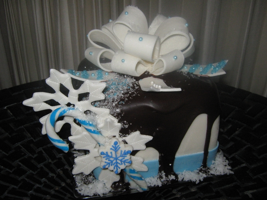 Blue Candy Cane  on Cake Central