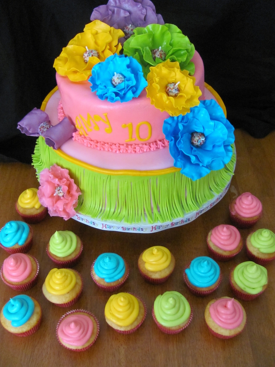 Hawaiian Fondant Cake
