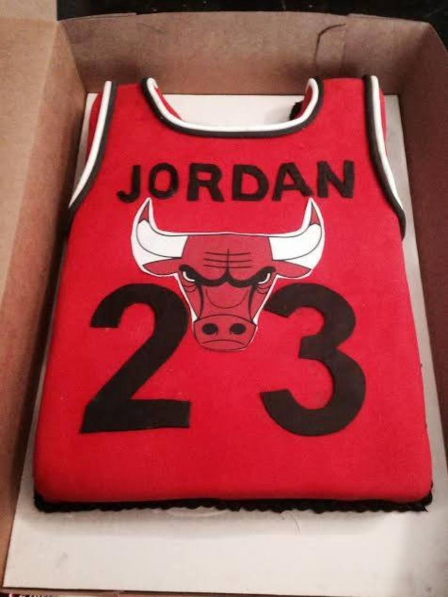 Jordan Jersey Cake CakeCentralcom