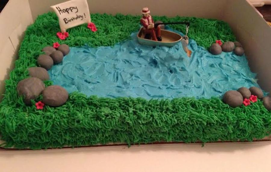 Awesome Fishing Theme Birthday Cake Cakecentral Com Personalised Birthday Cards Cominlily Jamesorg