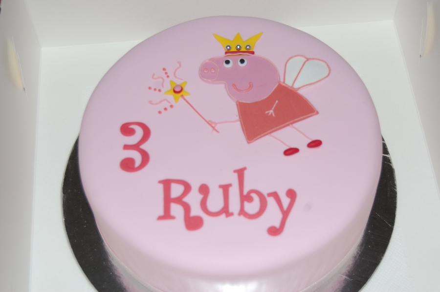 """fairy Peppa Pig"" on Cake Central"