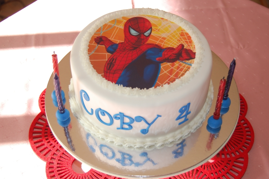 "Coby's ""spiderman"" on Cake Central"