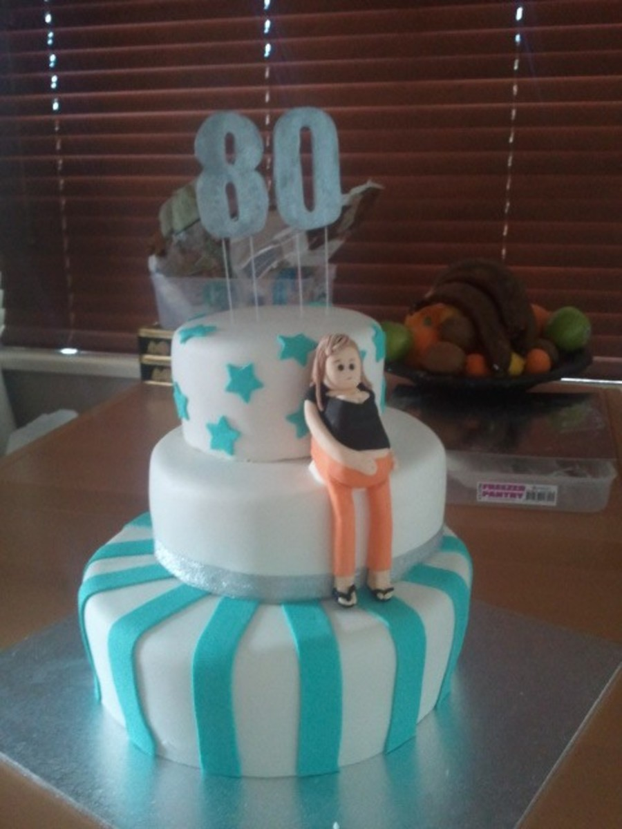 Pregnant Lady 80Th on Cake Central