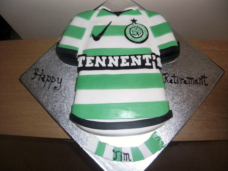 Celtic Football Shirt Cake