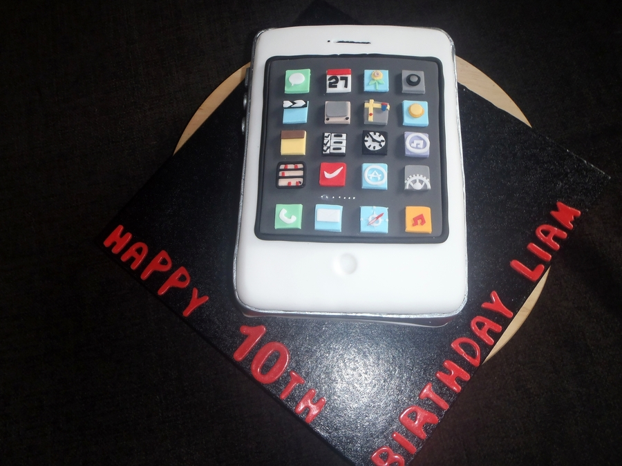White Iphone on Cake Central