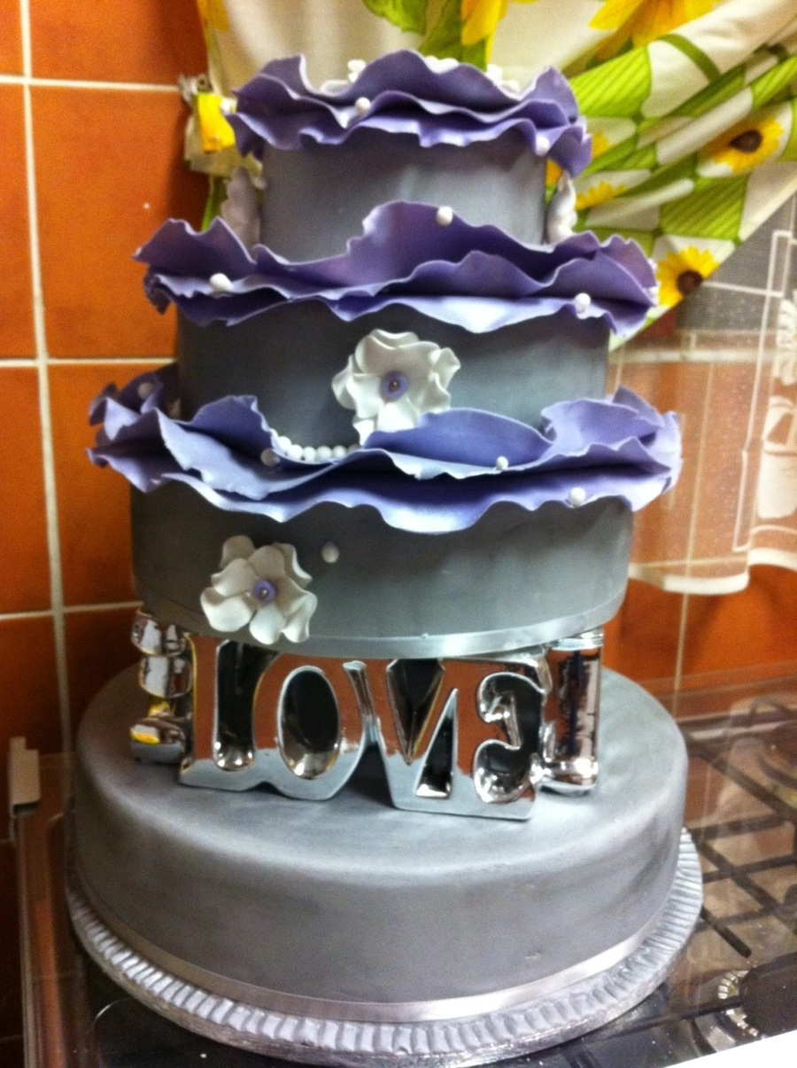 Romantic Wedding  on Cake Central