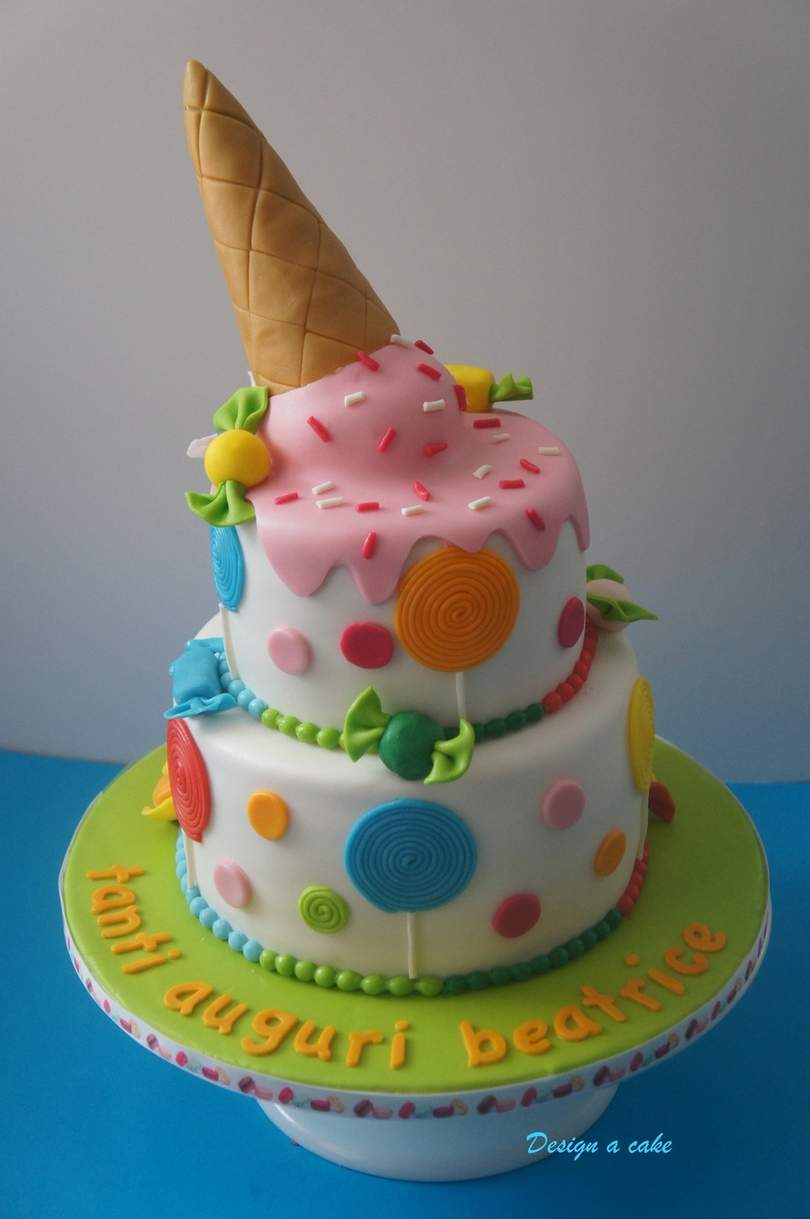 Birthday Cake Design Cream : Ice Cream Cake - CakeCentral.com