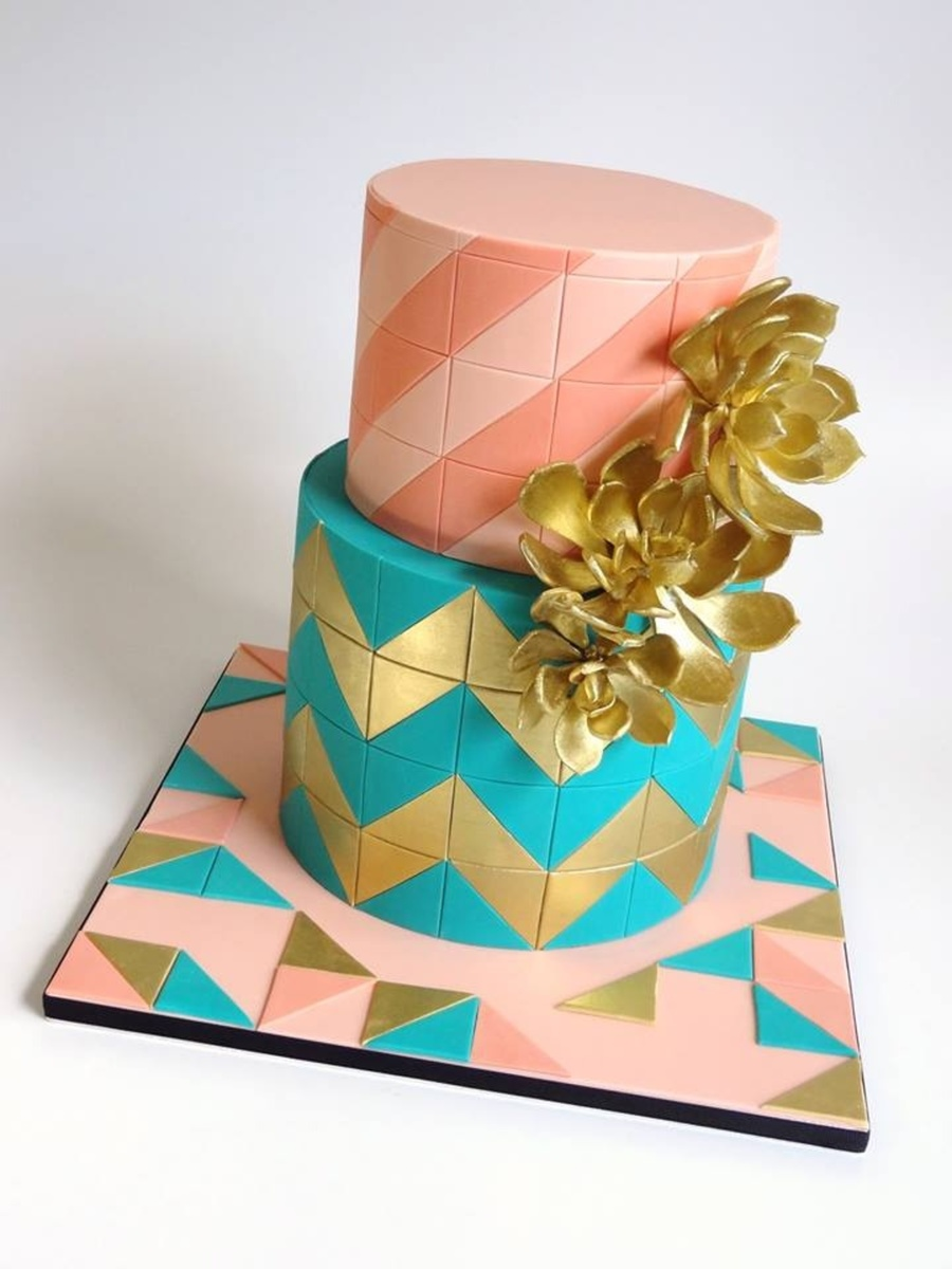 Luxury Geometric on Cake Central