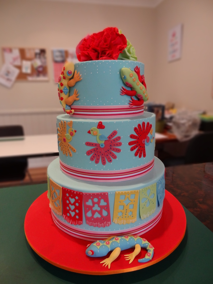 Mexican Fiesta Cake- Three Tiers - CakeCentral.com